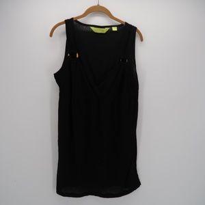 Swim Avenue V-Neck Beach Cover-Up Tunic Dress